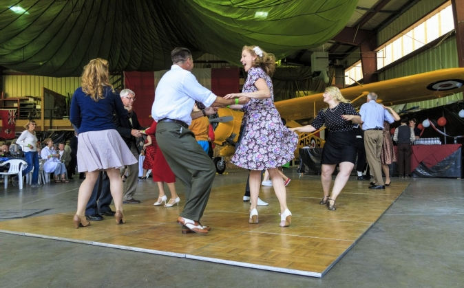 Swing Dancing at Victoria Air Maintenance